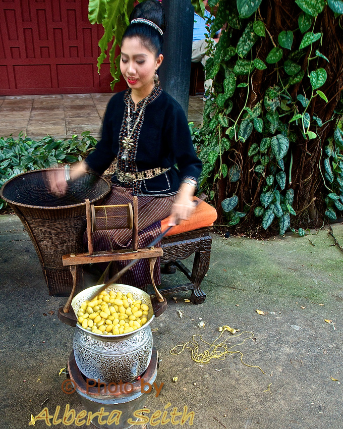 Boiling Silk Cocoons-Jim Thompson House