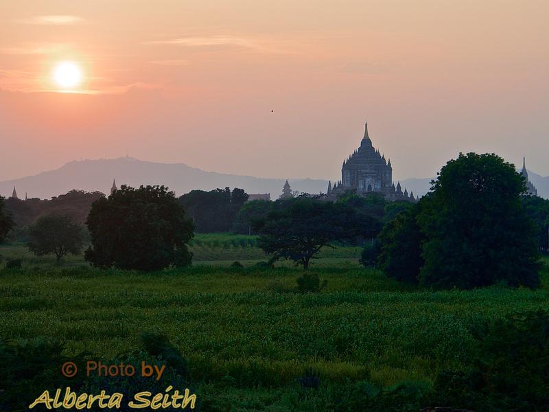 Sunset carriage ride-Bagan Plain