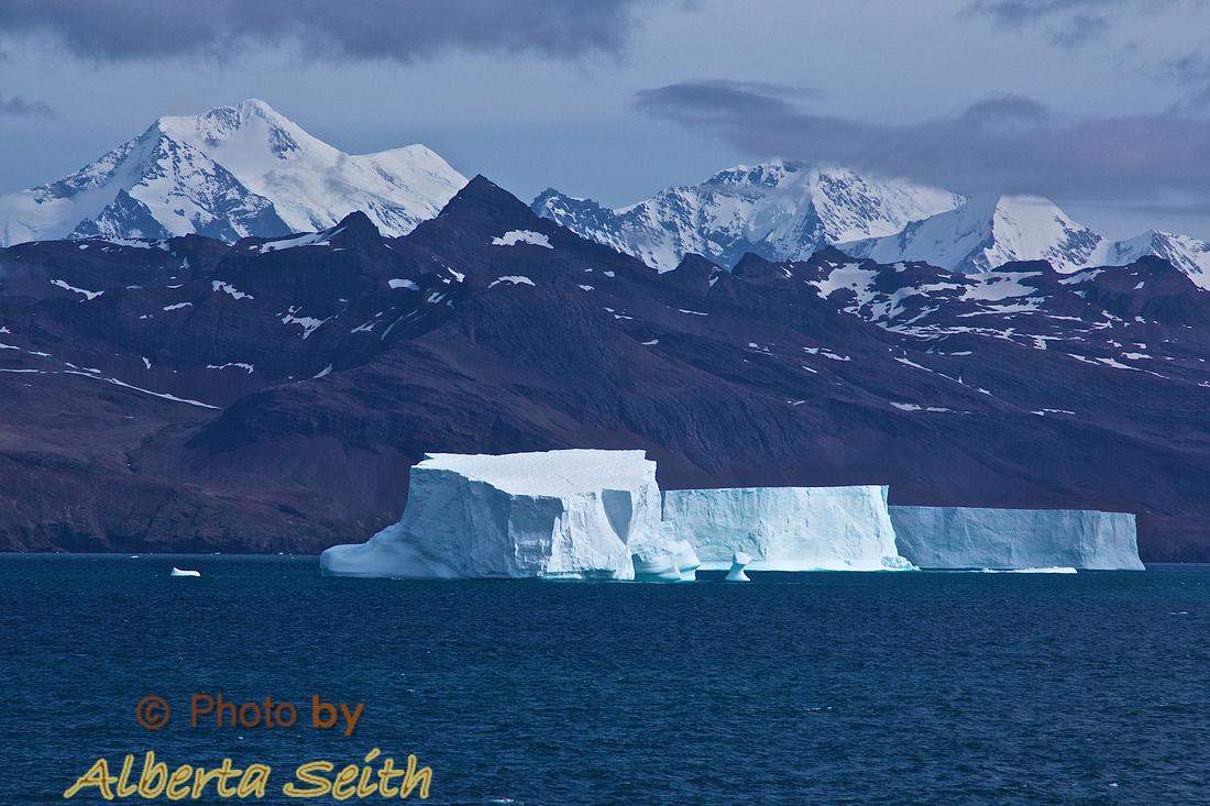 Tabular ice near the Stromness whaling station, South Georgia Island