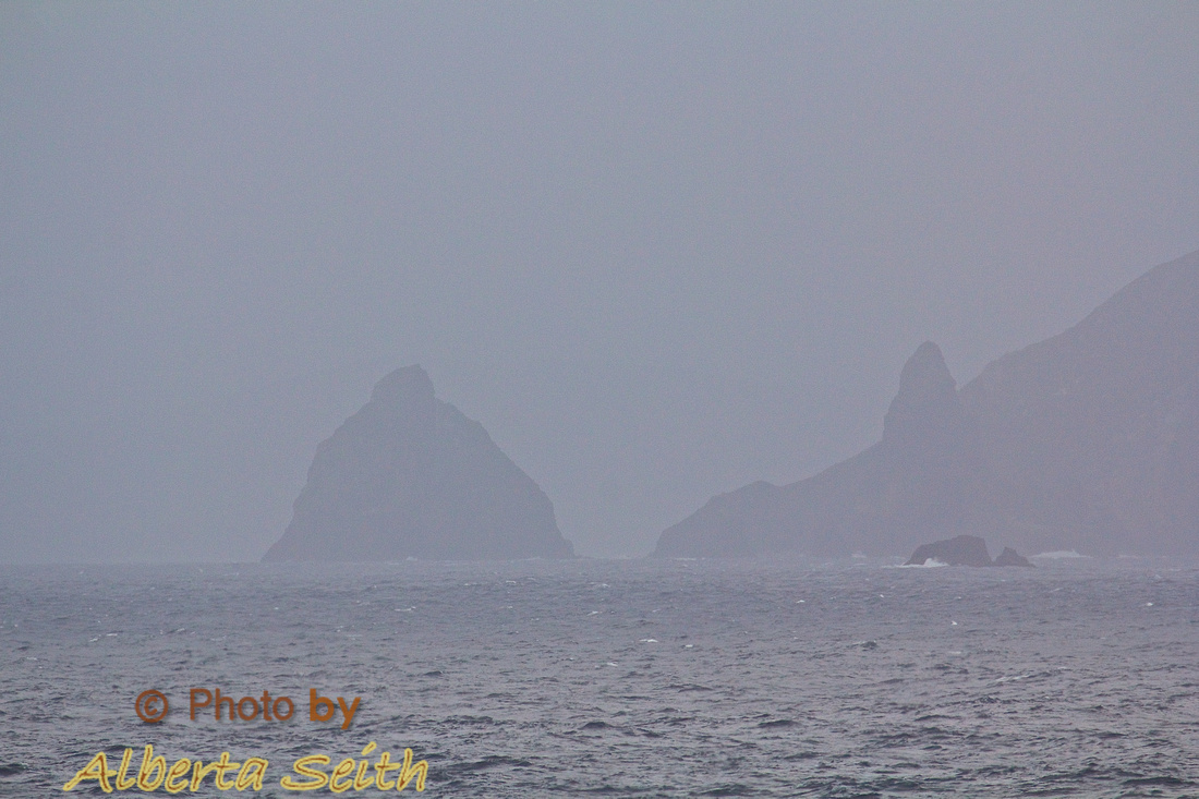 Cape Horn in Fog from the Drake