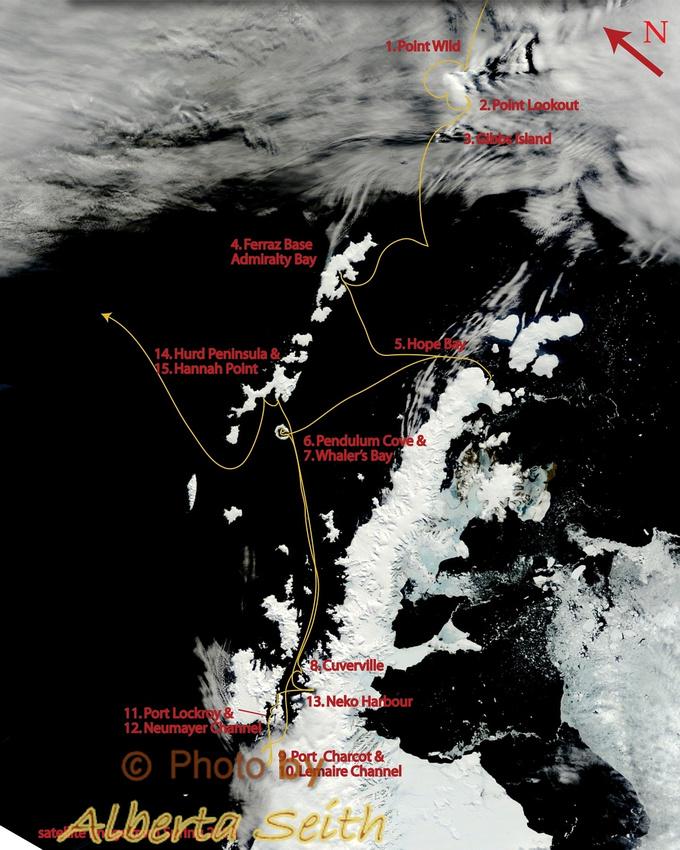 Antarctica Landing sites