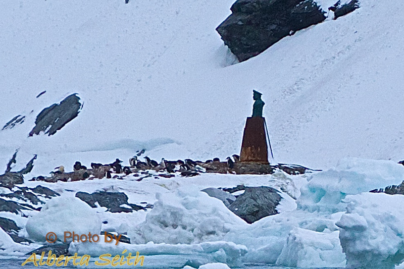 Point Wild Chilean statue of captain who rescued Shackleton