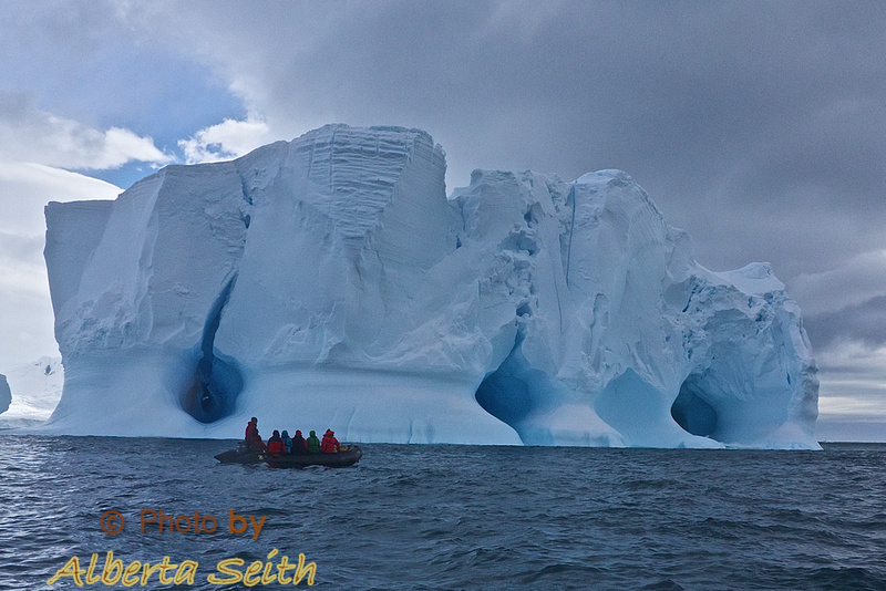Ice bergs at Point Wild
