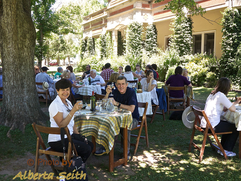 Our final outdoor lunch at the Estancia