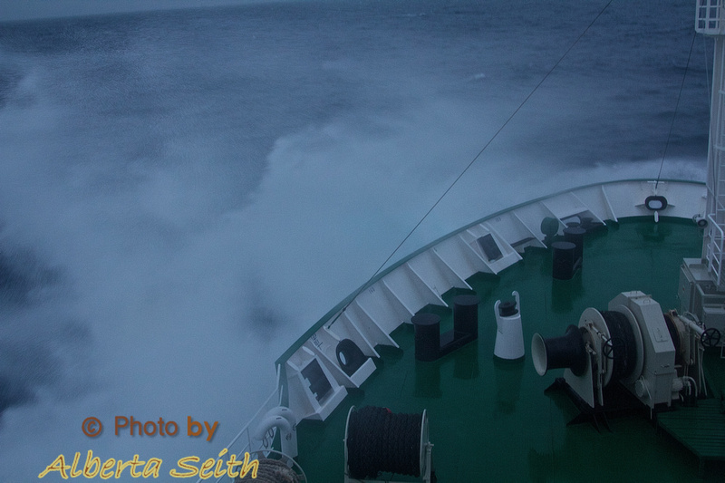 High seas in the Drake Passage