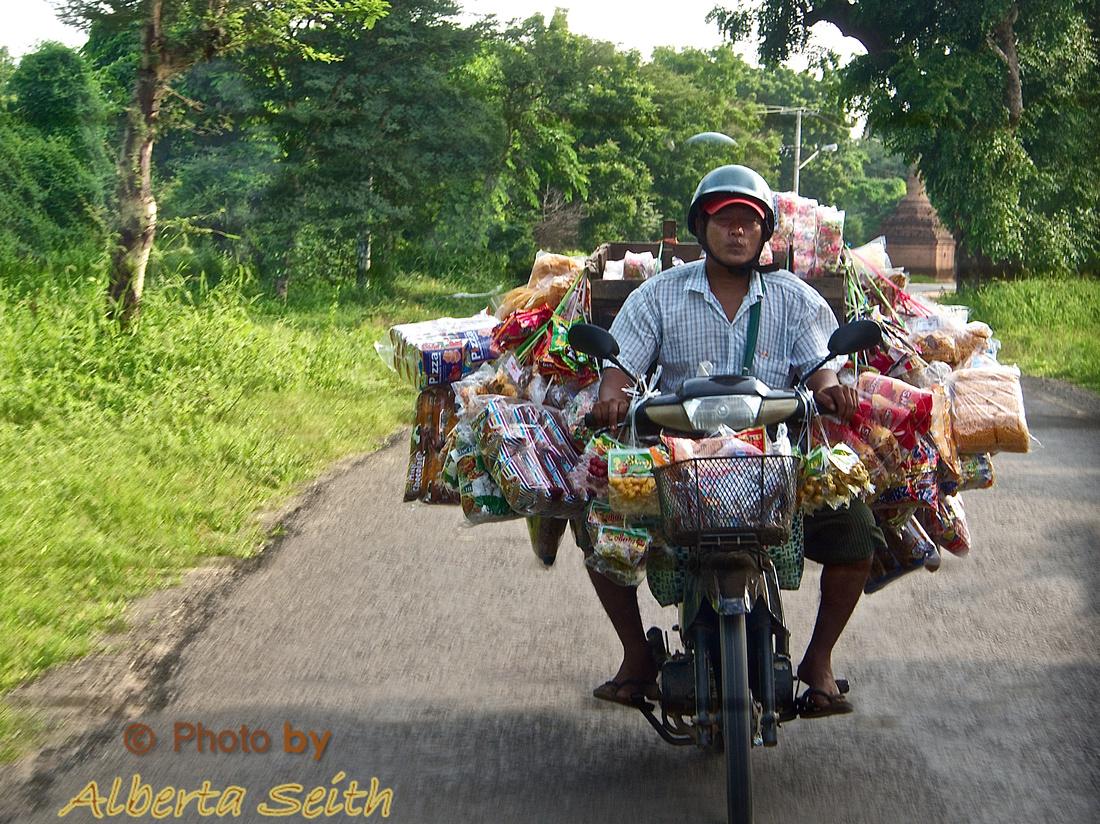Motor Bike in Bagan