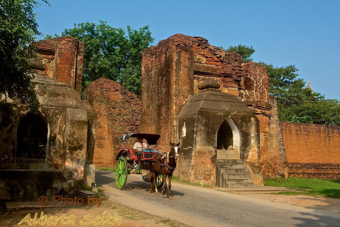 Horse Cart at the Ancient Bagan Gate