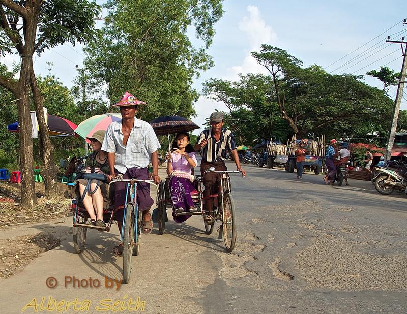 Trishaws to the Dala Orphanage