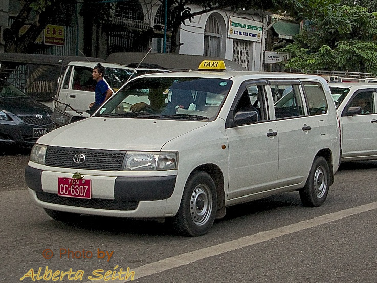 Yangon Cars with Steering Wheel on the Right