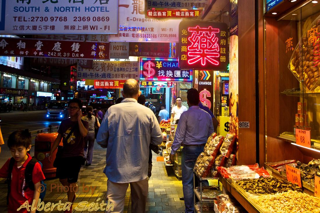 Nathan Street, Hong Kong at Night