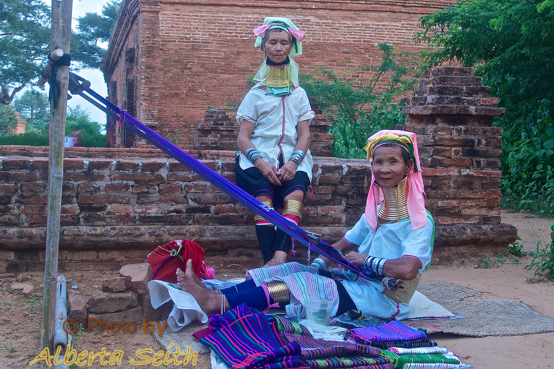 Kayan Weavers with Neck Rings