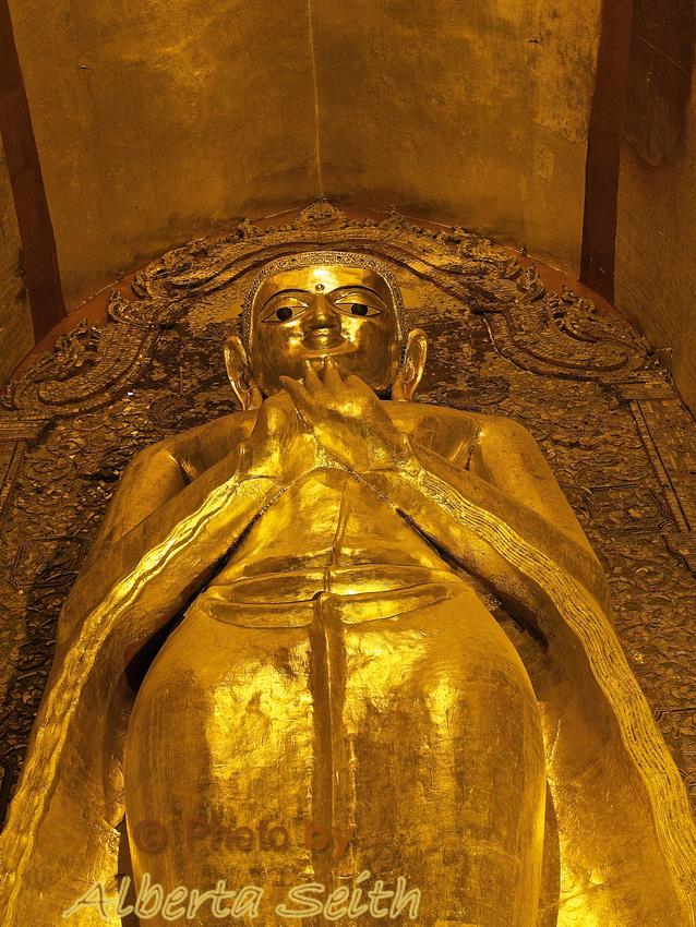 Solemn Buddha Pose at Ananda Phaya Pagoda -Bagan