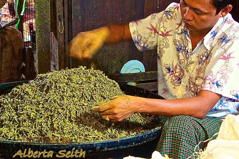 Green Tea Leaves- Bagan Market