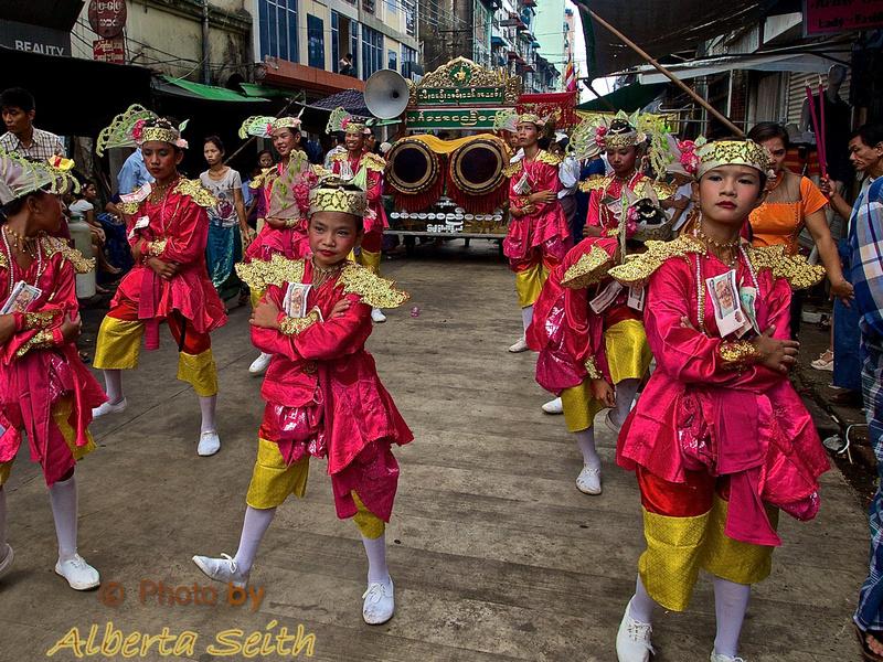 Celebration of the Fat Buddha in Yangon's Chinatown