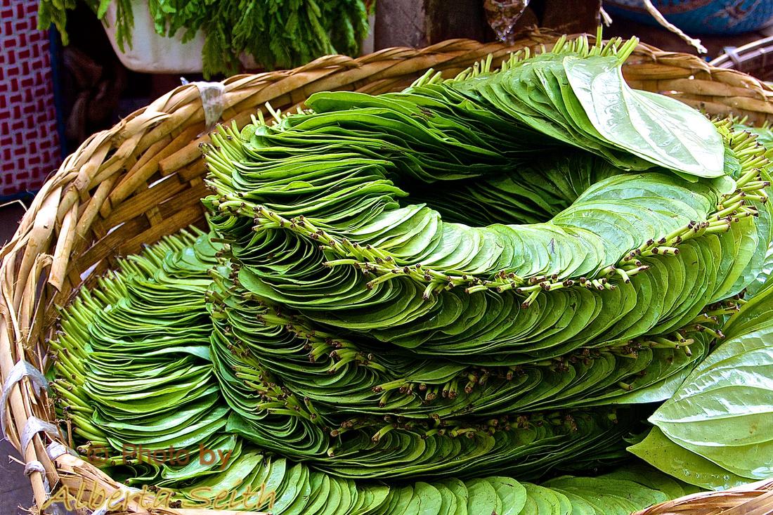 Betel Leaves in a Bagon Market