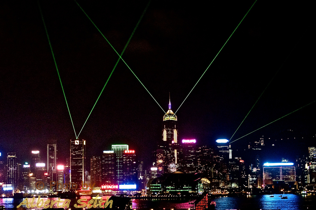 Laser Light Symphony over Victoria Harbour