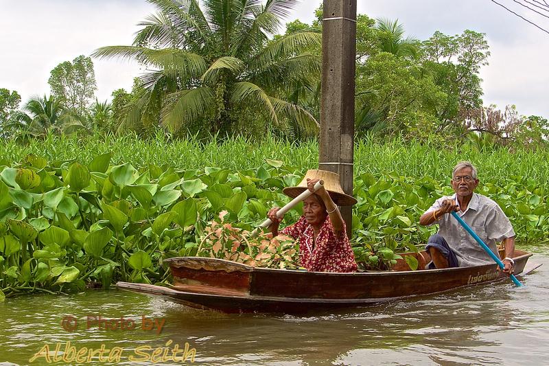 Old Couple on a Bankok Klong