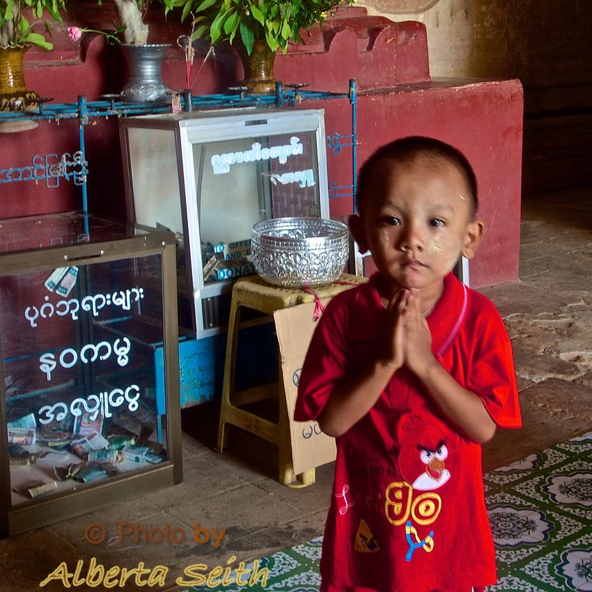 Boy at Sulamani Pagoda-Bagan