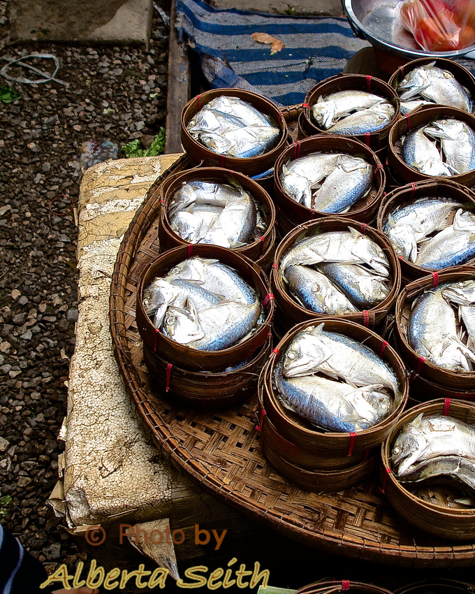 Tuna Baskets at Maeklong Railway Market