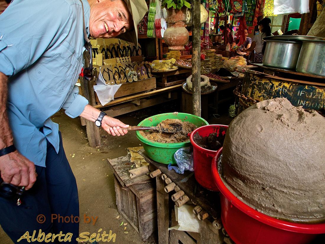 Fish Paste in the Bagan Market