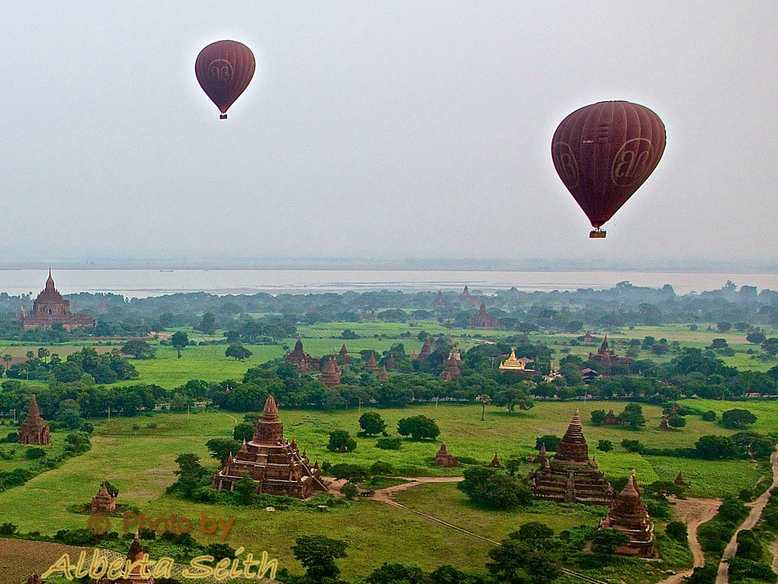 Balloons over the Irrawaddy-Bagan
